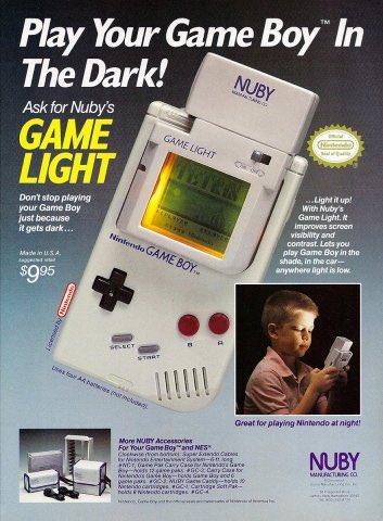 Nuby's game light magazine ad